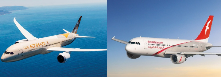 Etihad, Air arabia, Abu dhabi, Low cost carrier
