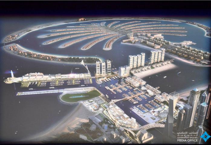Dubai Harbour, Logistics, Construction