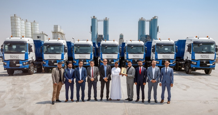 Renault trucks, Concrete, Uae