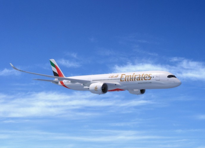 Emirates, A350, Dubai Airshow