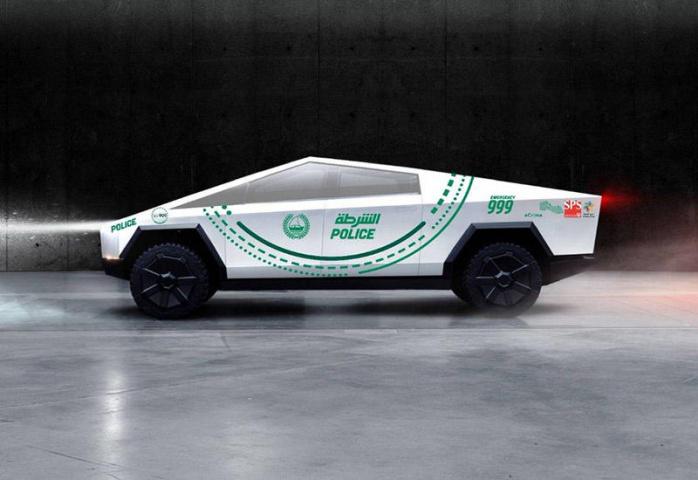 Dubai police, Tesla, Cybertruck