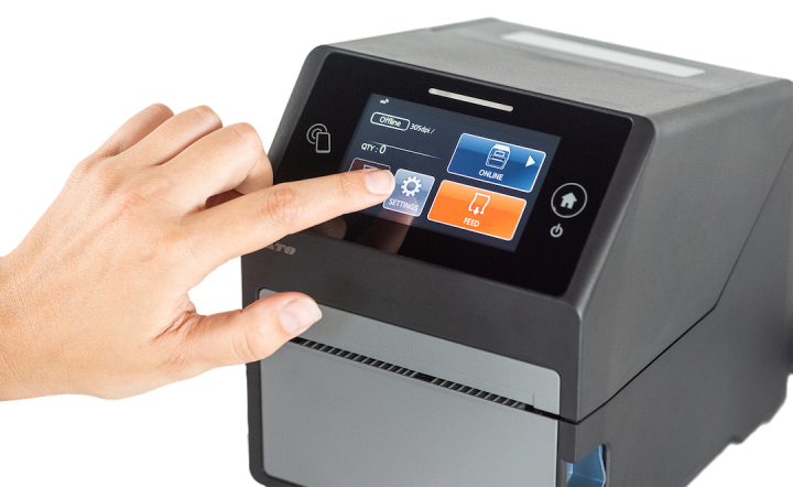 SATO CT4-LX smart printer.
