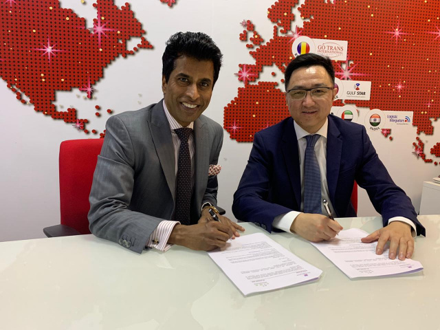 From left to right: Usman Rehman, chairman of L.I.N.K. Global and David Luan, founder and CEO, ShipParts.com