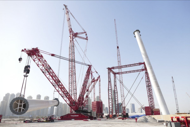 Mammoet has successfully completed its role in the construction of Ain Dubai, the world's tallest observation wheel