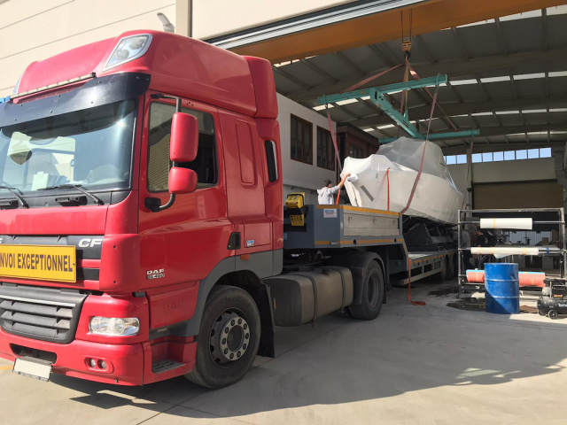 Bati Group shipped a yacht to Athens, Greece.