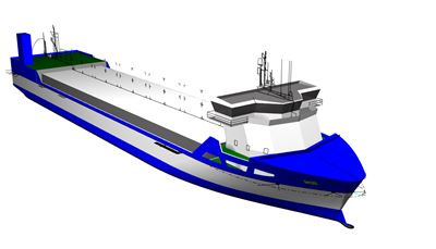 Three LNG fuelled short-sea vessels for Bore Ltd will be equipped with optimised Wärtsilä integrated LNG systems. Copyright: Conoship/Bore