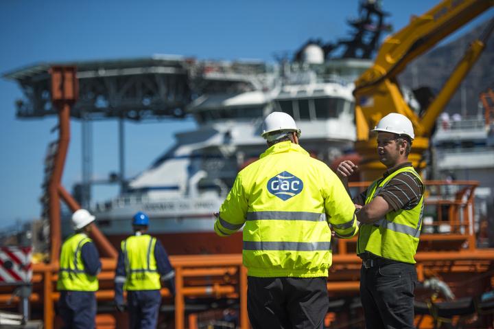 GAC staff in port.
