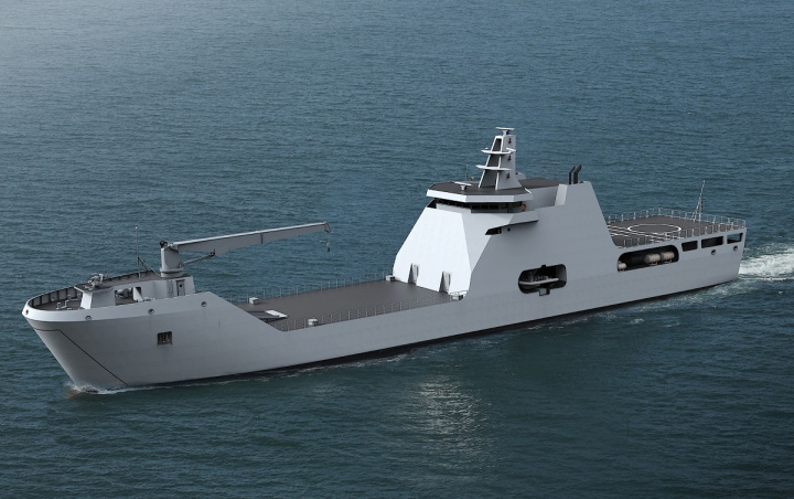 One of the new LST 100's for the Nigerian Navy.