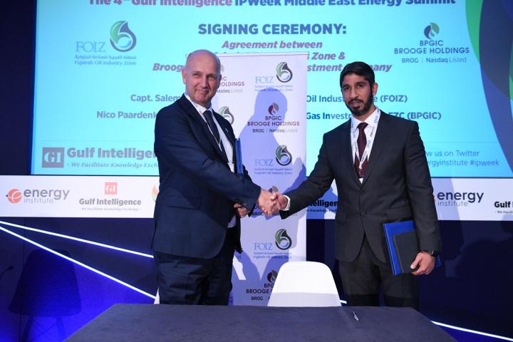 Left to Right: Nico Paardenkooper, CEO, BPGIC and Capt. Salem Al Hmoudi, director, FOIZ.