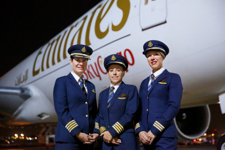 Women constitute more than 40% of the total workforce at Emirates with the majority working as cabin crew.