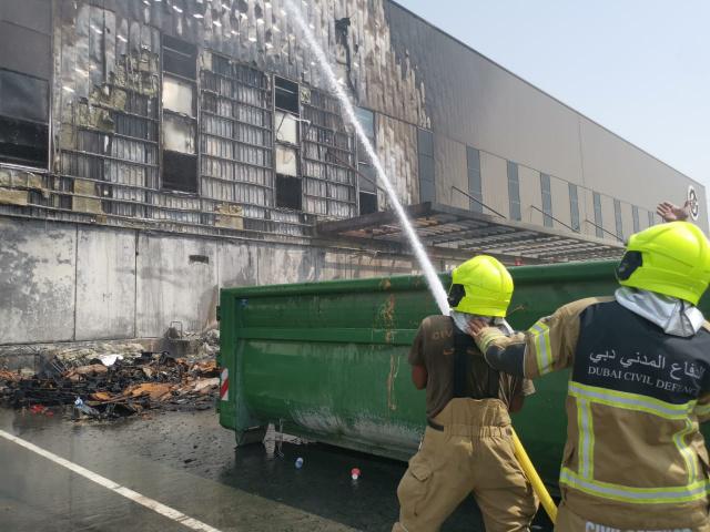 Dubai Civil Defence, Warehouse fire